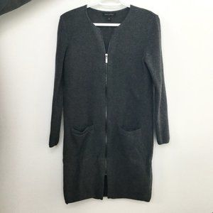 Banana Republic Gray Cardigan Coat with Pockets